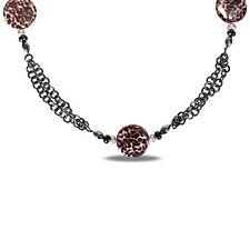 Amour Goldtone Leopard Print 28-inch Fashion Necklace