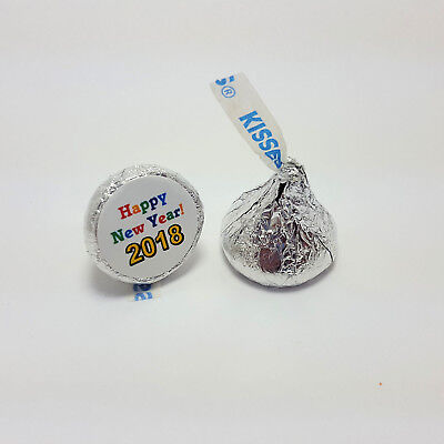 108 New Years Eve Holiday Hershey Kiss Party Favor Labels Stickers - Nye Party Favors