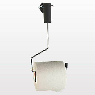 Wall Mounted Spizy Toilet Roll Holder Swing Bathroom Chrome Effect Accessory Loo