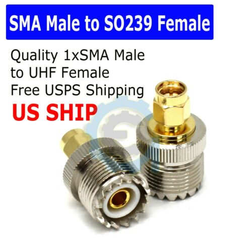 SMA Male Plug to UHF PL259 SO239 Female RF Connector Adapter Cable DO