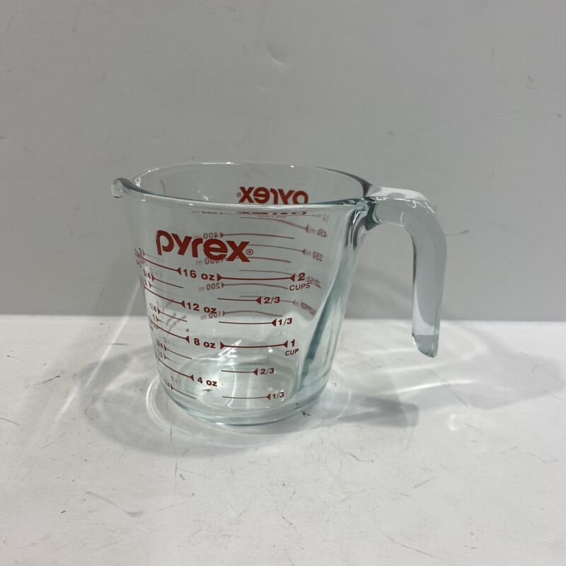 Vintage Anchor Hocking Oven Basics Ovenproof Glass 2 Cup 500ml Measuring cup