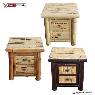 Bambus Schlafzimmer Schrank (Nachttisch Nachtkommode Nachtschrank Beisteltisch Bambus Schrank Tisch)