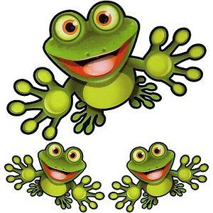 3 STÜCK Autoaufkleber Frosch Kröte Sticker Aufkleber NEU