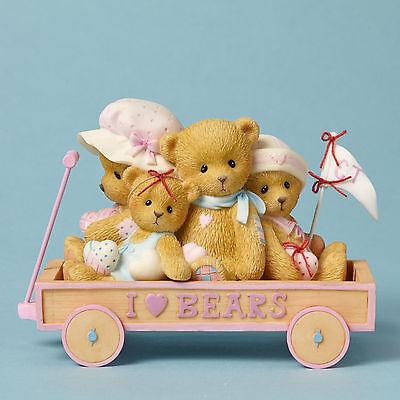 Cherished Teddies~I LOVE BEARS WAGON~SALE~FREE SHIP