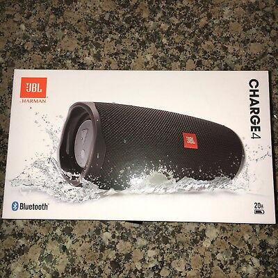 JBL CHARGE 4 Waterproof Portable Bluetooth Party Speaker BLACK New & Sealed