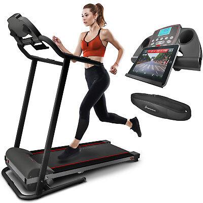 Sportstech F10 Laufband mit Fitness App Selbstschmiersystem klappbar bis 18%