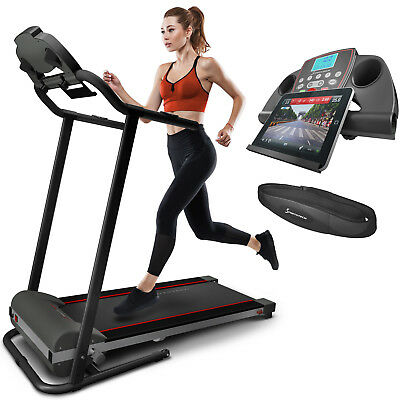 Sportstech F10 Laufband mit Fitness App Selbstschmiersystem kompakt klappbar