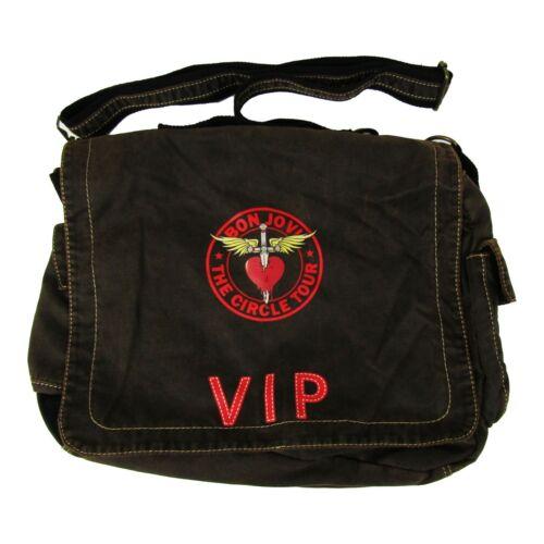 Bon Jovi The Circle Tour VIP Brown Messenger Shoulder Bag Concert 2012 NWOT
