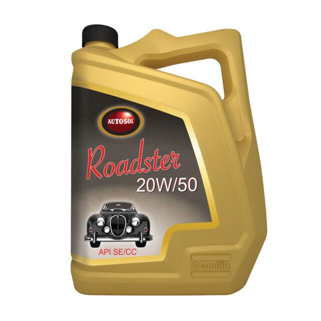 Autosol Roadster 20W/50 Classic Car Engine Oil Lubricant API SE/CC - 5L