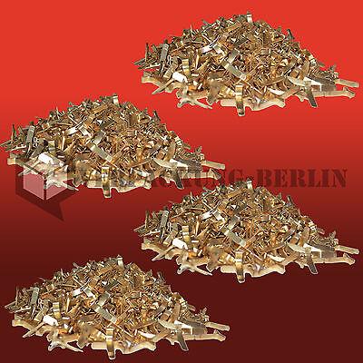 500 Flachkopfklammern Musterbeutel Warensendung Versand Verschluss Buch Klammer