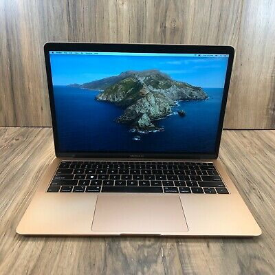 "Apple MacBook Air 2018 Gold 13"" Touch ID 128GB SSD 8GB RAM 1.6GHz Fully Tested"