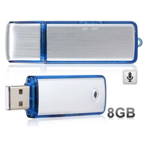 8GB Digital Voice Audio Recorder Spy versteckte Diktiergerät versteckte USB-S...