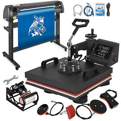 5in1 Heat Press 15x15 Vinyl Cutter Plotter 53 Usb Port Sticker Print Diy