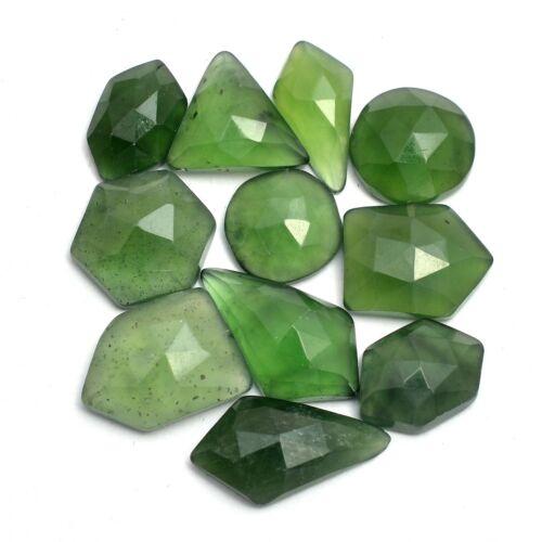 Fancy Green Serpentine Gemstone Loose 10mm-17mm Rosecut Cabochons Mix Set