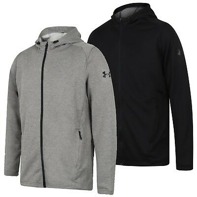 Under Armour Mens MK-1 French Terry Full Zip Hoodie Gym Hoody Hooded Sports Top Full Zip Terry Hoodie