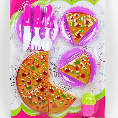 Kids Pizza Party Fast Food Cooking Cutting Pretend Play Set Toy Girls Gift xmas ()