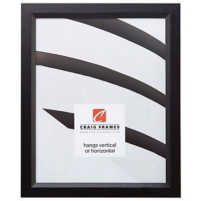 Craig Frames Economy Black, Simple Hardwood Picture Frame, S