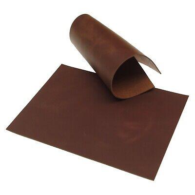 Rindsleder Braun Pull-Up Finish 3,0 mm Dick A4 Echt Leder Stück Leather 37 - Leder Pull