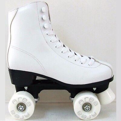 Roller Skates 4 Räder Quad Kunstdruck Eiskunstlauf Weiß F4QUAD (Quad Roller Skate Räder)