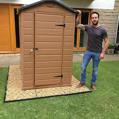 GARDEN SHED BASE KIT 6x4 - 8x4 FT ACTUAL = 2.5 x 1.2M OR PLASTIC GREENHOUSE BASE