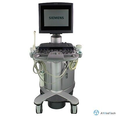 Siemens Acuson S2000 Ultrasound System Vc25e With 6c2 Ec9-4 And 4v1 Probes