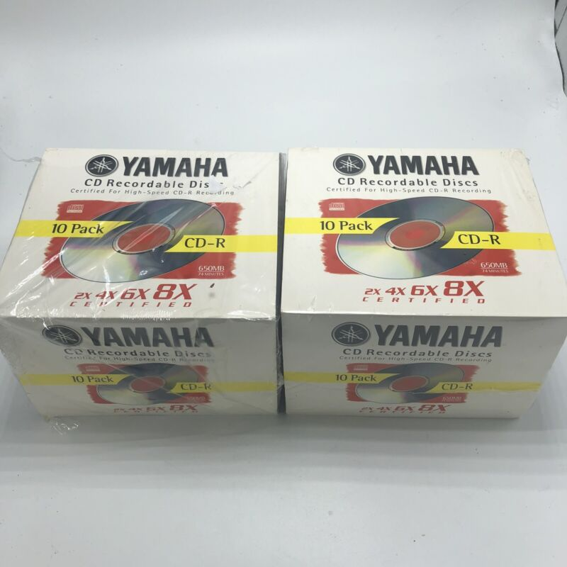 Lot Of 2 Yamaha CD Recordable Disc CD-R 650MB 74 Min 2X 4X 6X 8X Sealed 10 Pack
