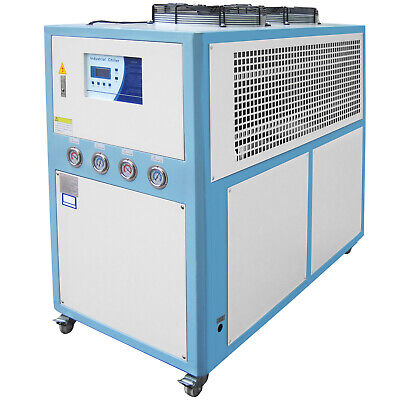 10 Ton Air-cooled Industrial Chiller 30KW LCD 145L Water Tank Stainless -