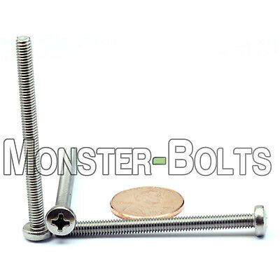 M4 X 50mm Stainless Steel Phillips Pan Head Machine Screws Cross Recessed A2