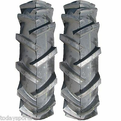 Set Of Two 600x14 6.00x14 600-14 6.00-14 R-1 Lug Farm Tractor Tire 6-14