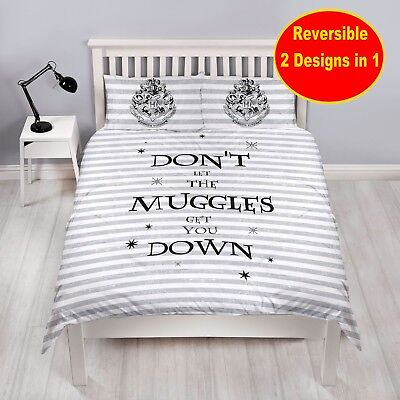 NEW HARRY POTTER SPELL DOUBLE DUVET QUILT COVER SET CHILDRENS ADULTS BOYS GIRLS