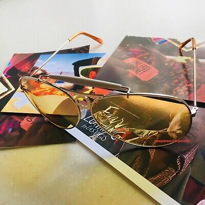 Fear & Loathing In Las Vegas Raoul Duke HST Sunglasses Best Yellow Lens Aviator