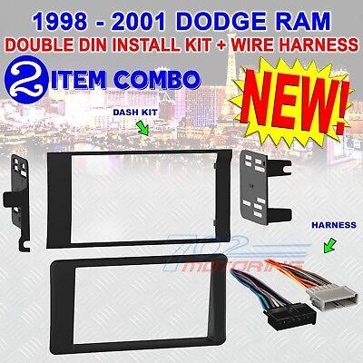 98 99 00 01 DODGE RAM CAR STEREO RADIO DOUBLE DIN INSTALLATION DASH KIT - 01 Harness