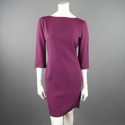 Christian dior taille us 10 / de chez 42 violet dos ouvert brodé Écharpe robe