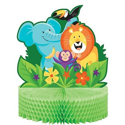 Monkey Baby Shower Centerpieces (JUNGLE SAFARI CENTREPIECE BABY SHOWER BIRTHDAY ZOO PARTY ELEPHANT LION)