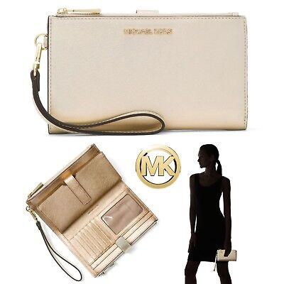 MICHAEL Michael Kors Double Zip Wristlet Wallet Clutch Travel ID Phone Case NWT