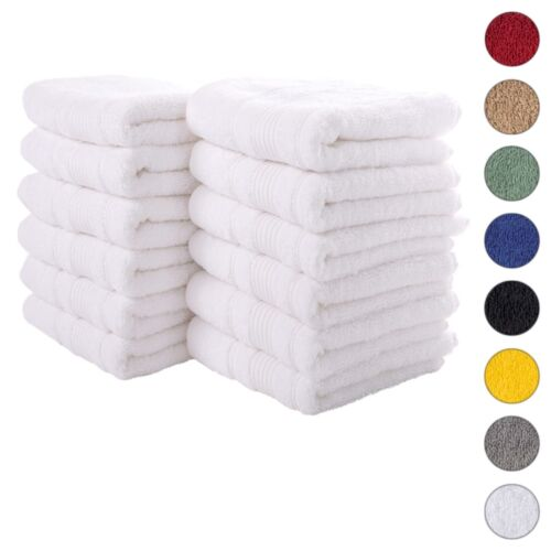 NEW WHITE Color ULTRA SUPER SOFT LUXURY PURE TURKISH 100% COTTON HAND TOWELS