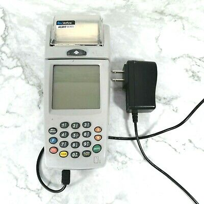 Vintage Verifone Nurit 8000 Gray Machine Lipman M20 Credit Debit Terminal Great