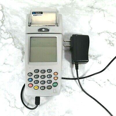 Vintage Verifone Nurit 8000 Gray Machine Lipman M20 Credit Debit Terminal Great
