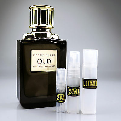 Black Vanilla Absolute Oud Perry Ellis 2Ml 5Ml 10Ml Edt Vanilla Rum Tobacco