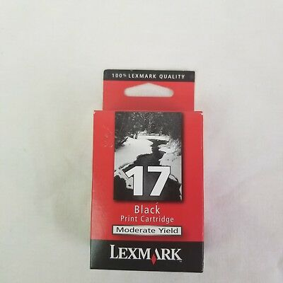 Lexmark 17 Black Ink Cartridge 10N0217 Genuine NEW Sealed - Moderate Yield