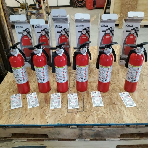 6-PACK - NEW 2.5lb Fire Extinguisher ABC Dry Chemical  1-A 10-BC