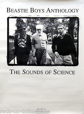Beastie Boys 1999 Anthology Sounds of Science Original Double Sided Promo Poster