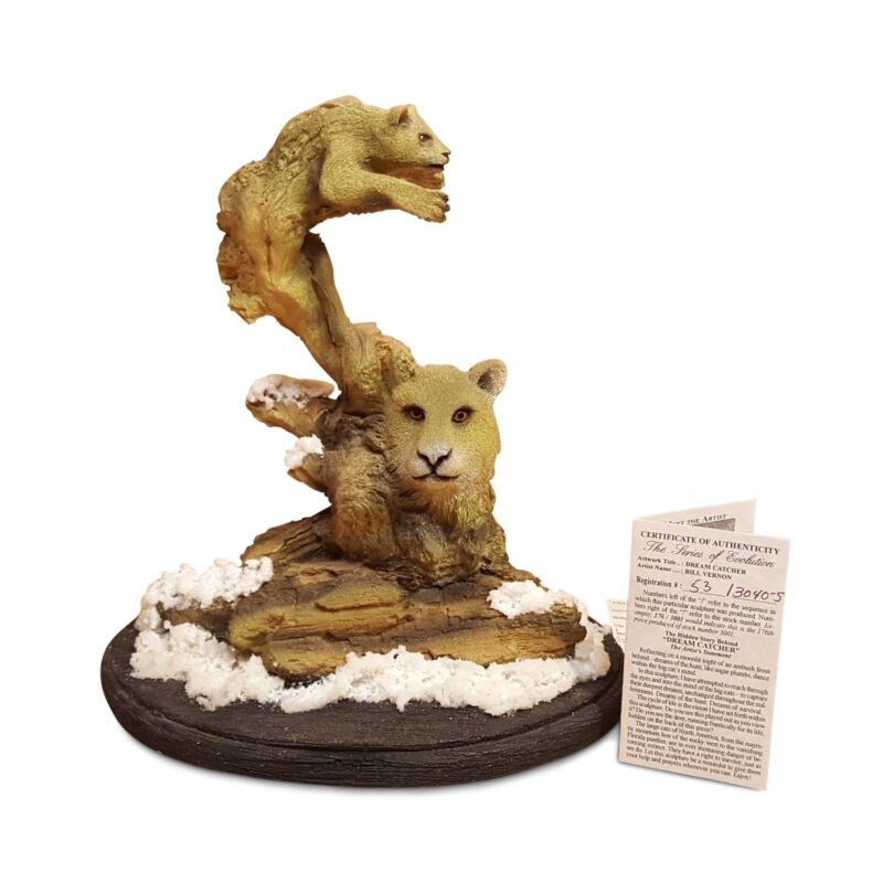 BILL VERNON Limited Edition COUGAR SCULPTURE Figurine ~ Dream Catcher