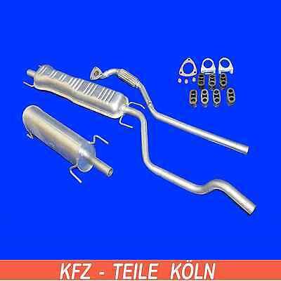 Opel Meriva - 1.8 - AUSPUFFANLAGE Abgasrohr + Mittel + Endschalldämpfer + Set