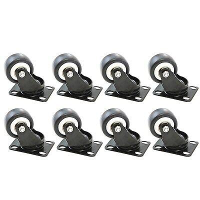 8 Heavy Duty Caster Set 2 Wheels All Swivel Casters Non Skid No Mark