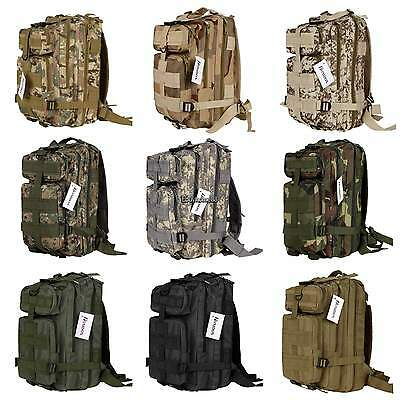 New Outdoor Military Tactical Backpack Rucksacks Camping Hiking Trekking Bag 30L