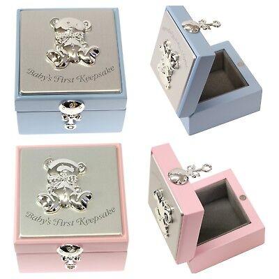 Baby Boy Girl Wooden Memories Keepsake Box Christening Birthday Gift Present  Baby Girl Keepsake Box