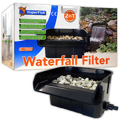 Superfish Waterfall Filter 44cm Pond Feature Cascade Ledge Garden Koi Fish