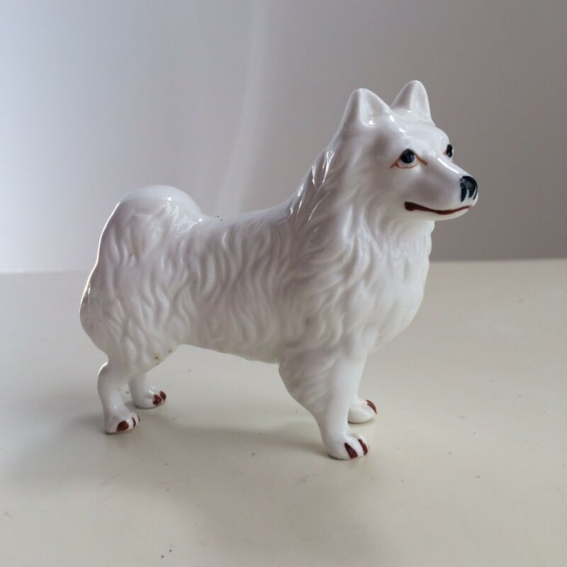 Spitz Samoyed American Eskimo Dog Volpino Figurine Animal Collectible EUC