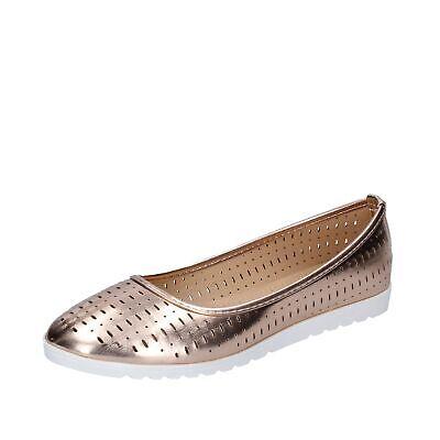 scarpe donna LANCETTI ballerine bronzo pelle sintetica BP565